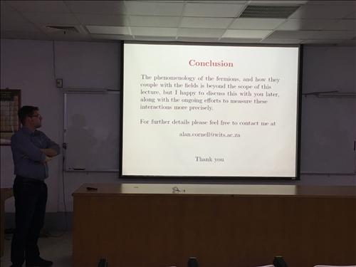 107年度 國外教授來訪學術演講「Some aspects of Elementary particle physics: Moving towards the Standard Model」演講