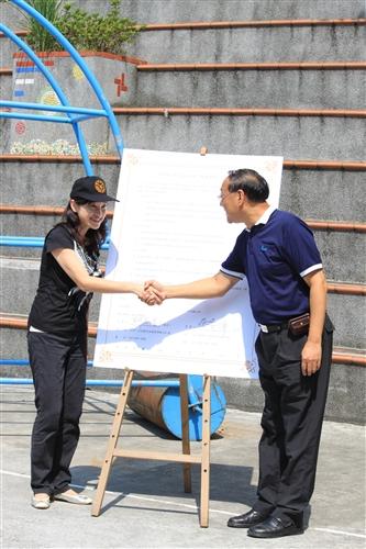 本校與淡水鎮公所簽約,全面啟動社區服務學習課程。