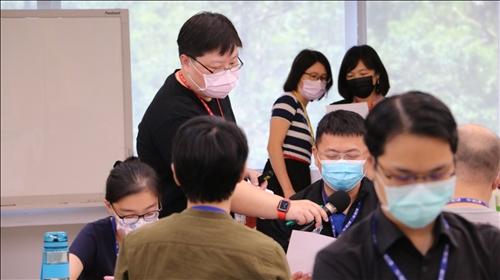 林彥伶主任講授教學方法的種類與結合