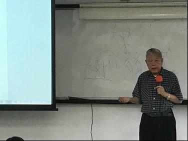 許進雄教授講解甲骨文「旁」字的本義, 進一步提出商代牛耕制度