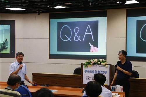 鄭東文教務長感謝謝主任分享跨領域創新教學。