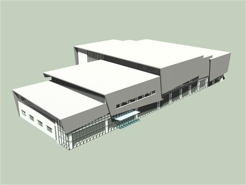 蘭陽校園活動中心3D透視圖。(圖/徐維志提供)