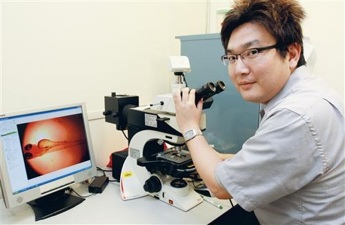 研究斑馬魚檢測小頭症 陳曜鴻光耀國際