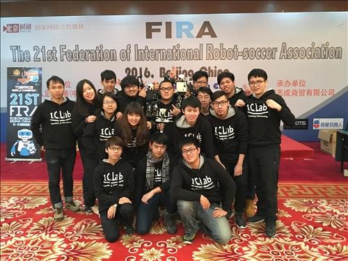 機器人研究團隊再次蟬聯FIRA世界盃機器人足球賽冠軍