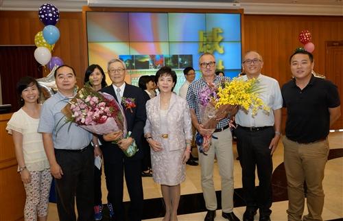 本校舉辦「104學年度第2學期榮退同仁歡送茶會」。