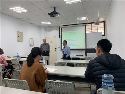 張建祺 博士(CHEIN-CHI CHANG, Ph.D., P.E.)演講實況1
