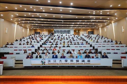 7-108年11月192日上午第17場「熊貓講座」於淡水校園守謙國際會議中心有蓮廳舉辦,與會師生約300人。(馮文星攝影)