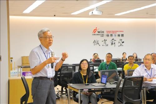 9-大陸中國科學院歐陽鐘燦院士進行演講