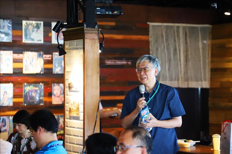 淡水好生活計畫協同主持人黃瑞茂老師分享USR執行經驗