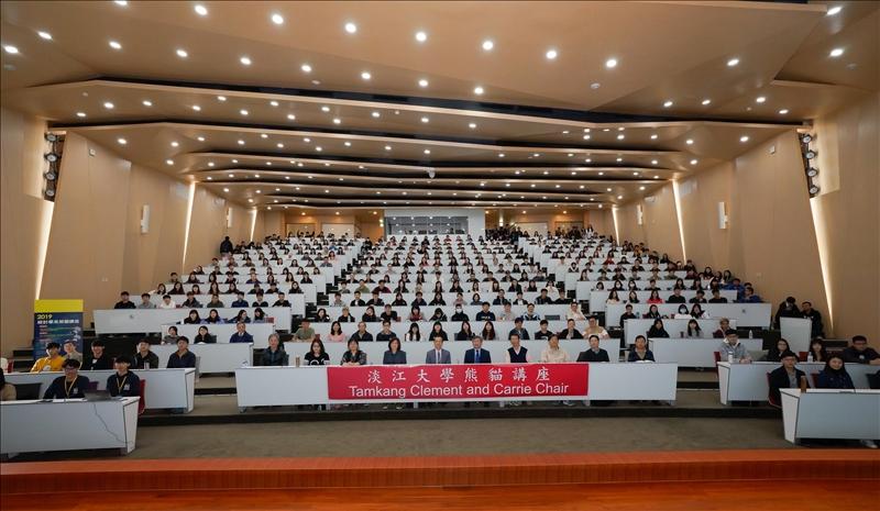 108年2月26日第5場「熊貓講座」於淡水校園守謙國際會議中心有蓮廳舉辦,與會師生約430人。