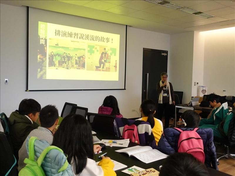 竹圍工作室創辦人蕭麗虹以環境藝術為主題進行專題演講