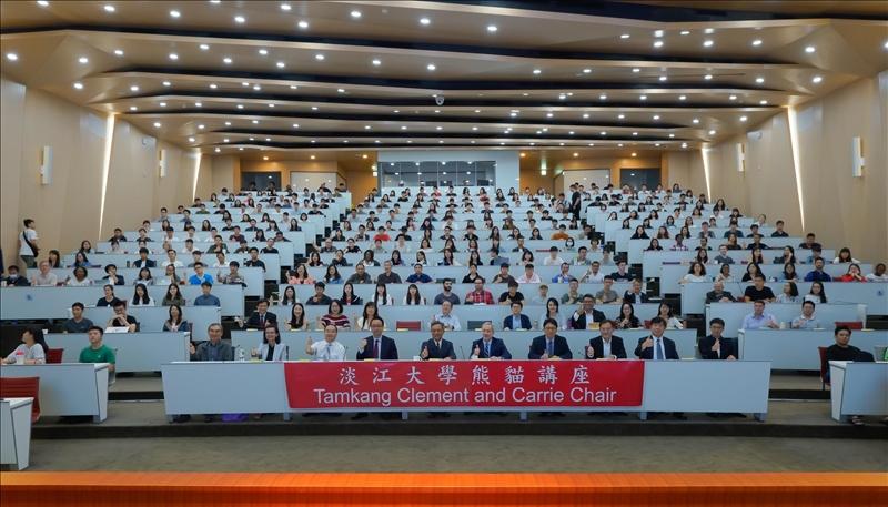 108年5月22日上午第11場「熊貓講座」於淡水校園守謙國際會議中心有蓮廳舉辦,與會師生近400人。