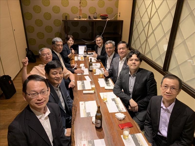 108年7月3日晚上,我國駐日本的蔡明耀副代表設宴招待本校參訪團隊。