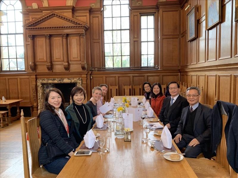108年3月18日中午,英國牛津大學哈福特學院接待本校參訪團。