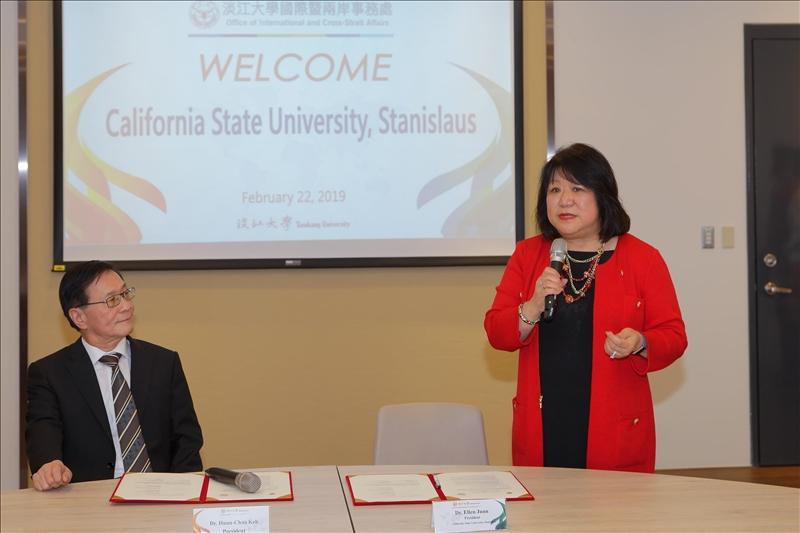 美國加州州立大學斯坦尼斯洛斯分校校長Dr. Ellen Junn致詞