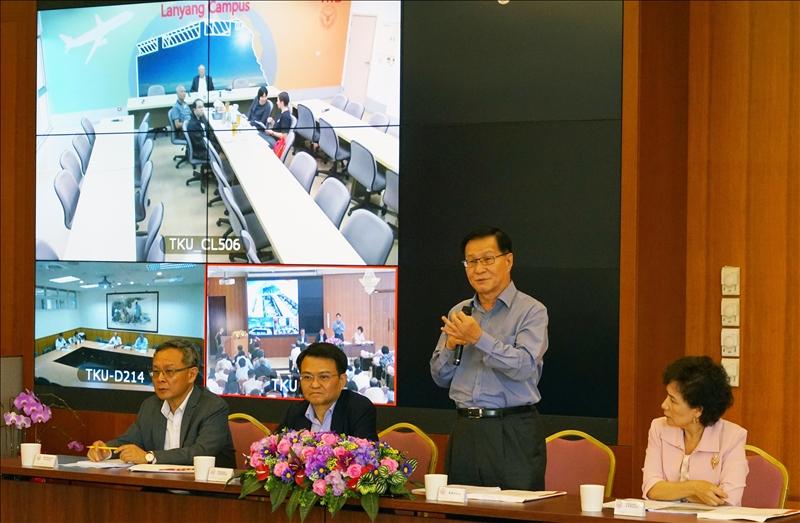 第82次校務會議11月1日下午於覺生國際會議廳舉行, 由校長葛煥昭主持。(攝影/廖國融)