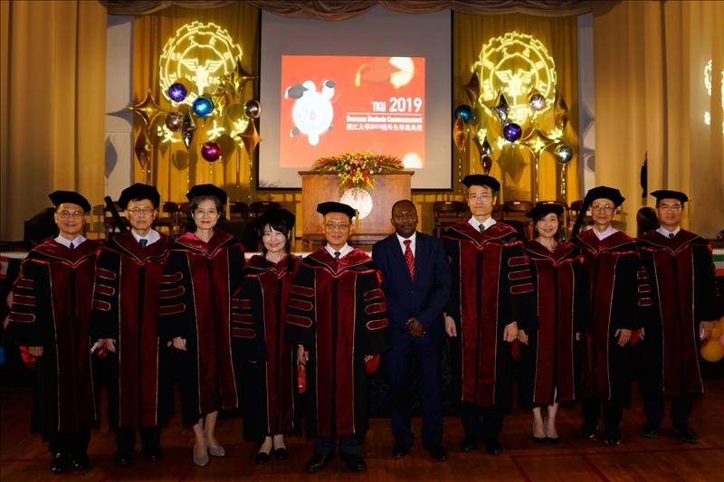 2019境外生畢業典禮,校外貴賓及校內師長蒞臨參加。