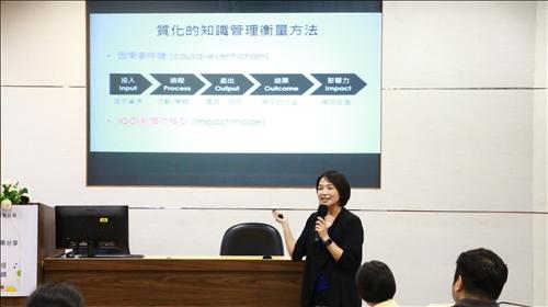 涂敏芬老師說明課程進行過程