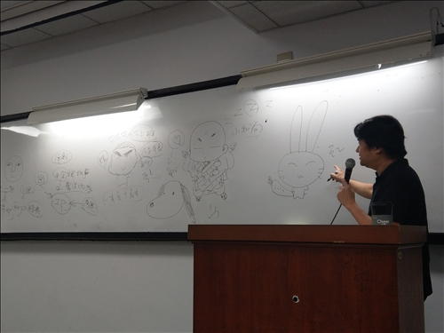 講者說明2:漫畫式線條的造型優勢及入門要訣