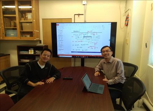 與Hao Jiang教授討論當前結果並給予意見交流