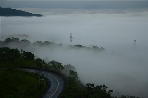 蘭陽校園的雲海