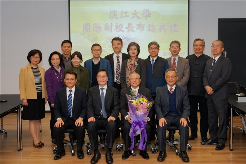 參加「蘭陽副校長布達典禮」的主管們,帶給林副校長深切的祝福!