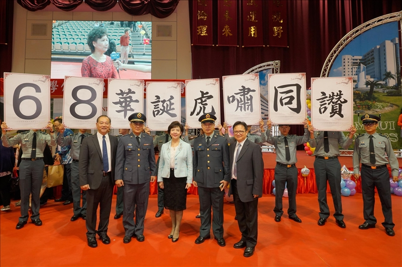 關渡指揮部軍官團蒞校慶祝本校校慶(2)