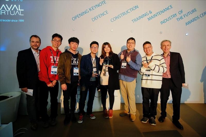 電機系副教授周建興師生團隊,榮獲法國第20屆「拉瓦爾國際虛擬視覺及擴增實境展」3D遊戲及娛樂項目大獎。