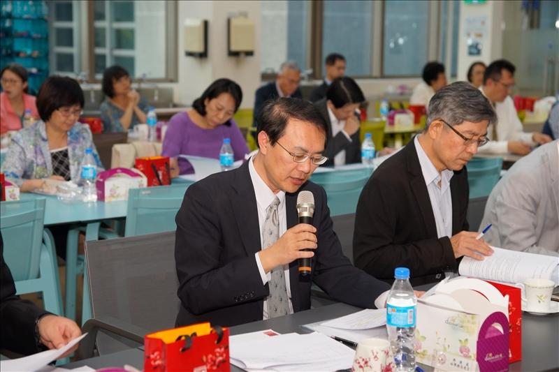 第163次行政會議,林俊宏學務長發言。