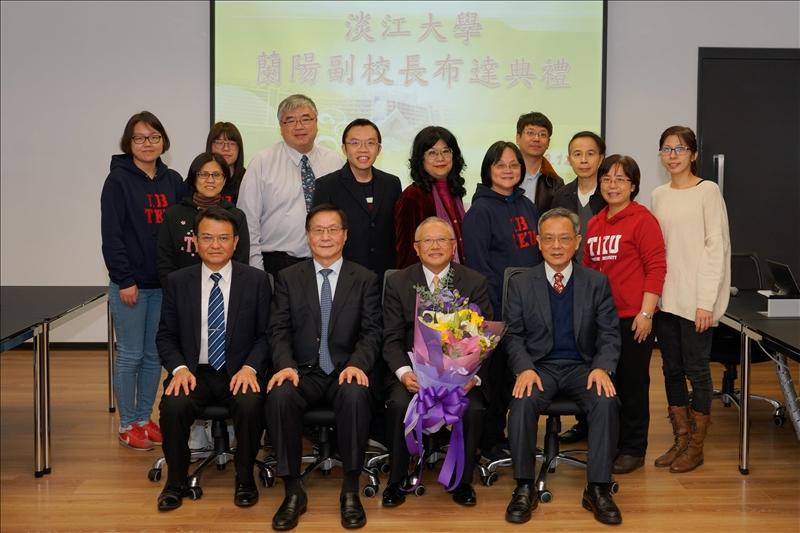 參加「蘭陽副校長布達典禮」的國企系同仁,給予林副校長高度的支持!