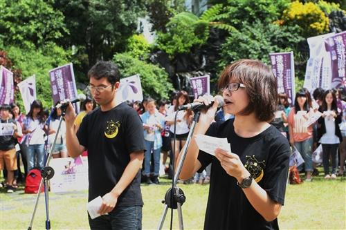 軍訓室舉辦「教師節敬師感恩暨紫錐花反毒」活動。