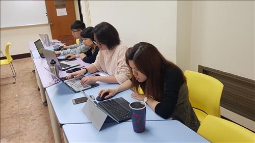 時代華語數位讀書會練習情形