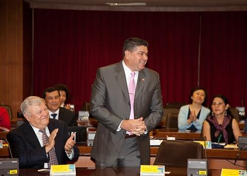 本校成立全國首創跨國遠距教學授予學位的碩專班,招收中南美洲友邦在職菁英