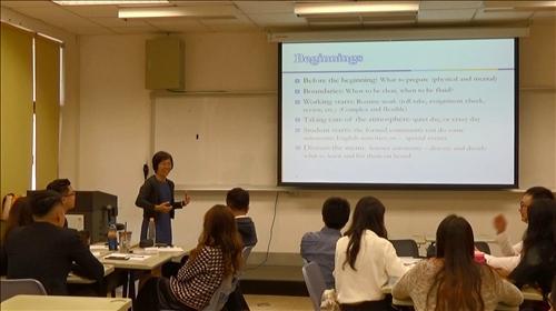 語言系謝顥音老師教授「英語教材教法」課程