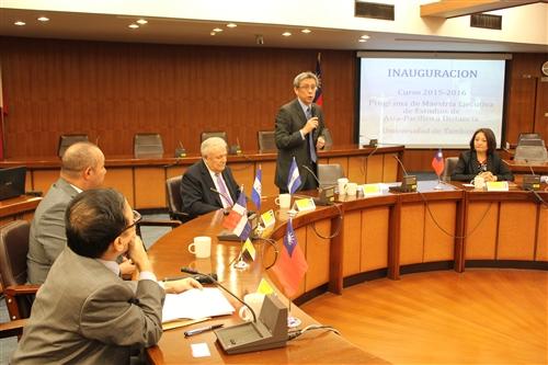 「美洲研究所亞太研究數位學習碩士在職專班」31位拉美菁英到校密集面授課程。
