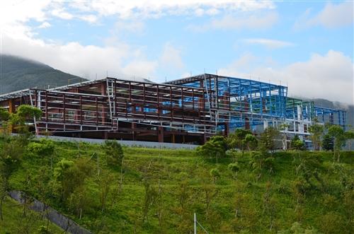 興建中的紹謨紀念活動中心