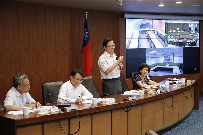 173次行政會議6月5日於驚聲國際會議廳舉行,由葛煥昭校長主持。(攝影/淡江時報社羅偉齊)