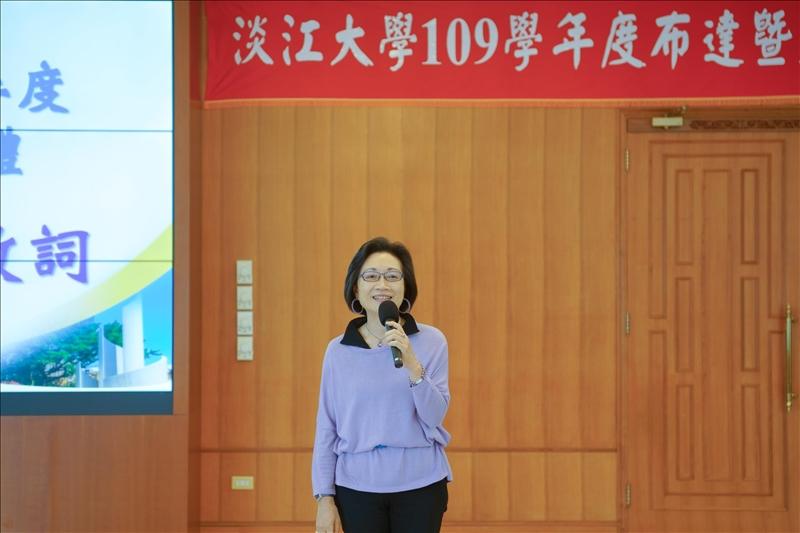 卸任一級主管致詞,邀請楊淑娟執行長發表感言。(秘書處馮文星拍攝)