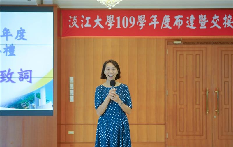卸任一級主管致詞,邀請陳叡智財務長發表感言。(秘書處馮文星拍攝)