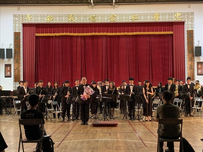 管樂社於9月17日晚間舉辦期初音樂會,協助首次接觸者了解管樂團的樣貌。(攝影/淡江時報社戴瑜霈)