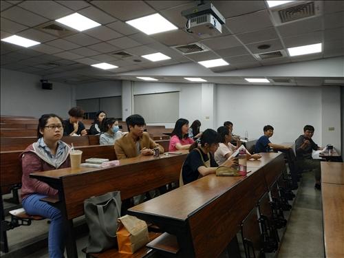 到場聽眾涵蓋本校不同科系與背景的學生