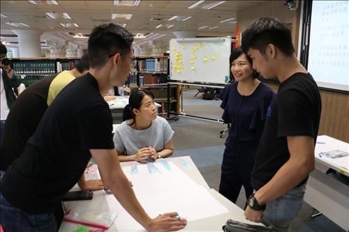 進入學生小組中協助團體討論疑惑之處