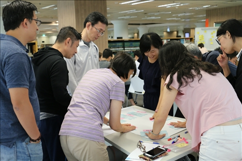 與觀課教師們討論課堂活動設計安排