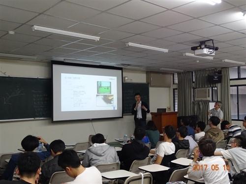機電系邀請無限睿智機器人公司總經理陳特助專題演講