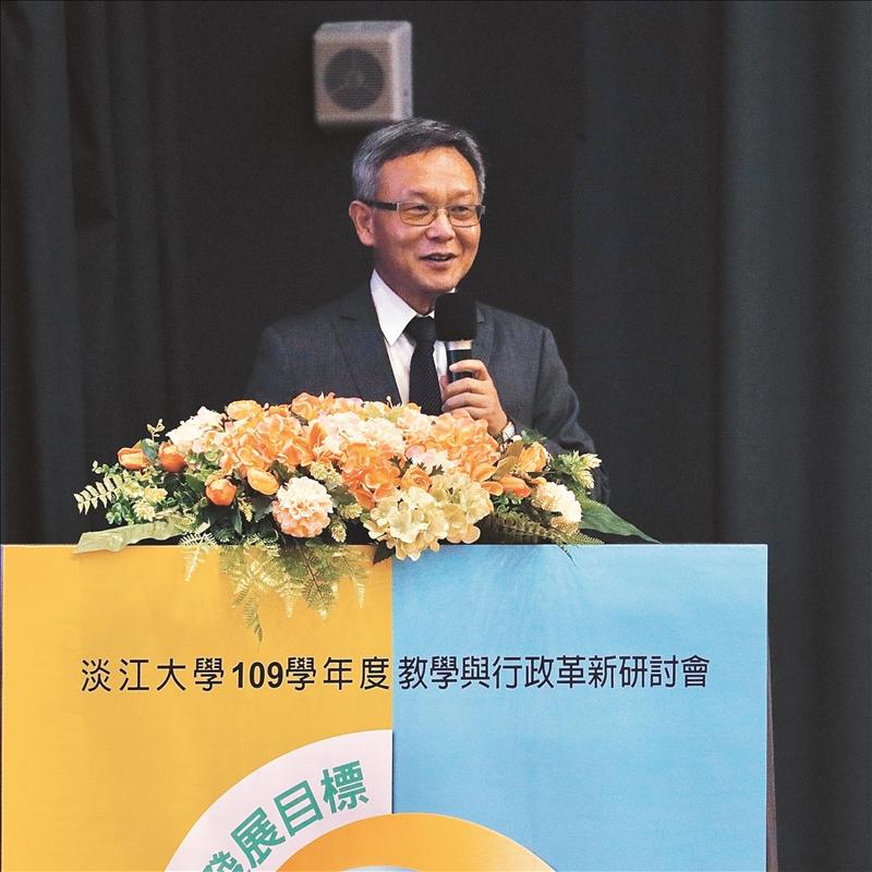國際事務副校長王高成進行分組結論報告。(攝影/淡江時報社黃歡歡)