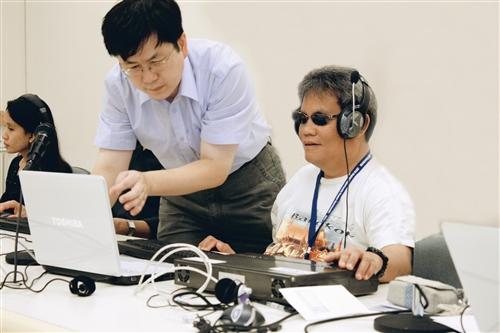 菲國來取經 學視障電訪