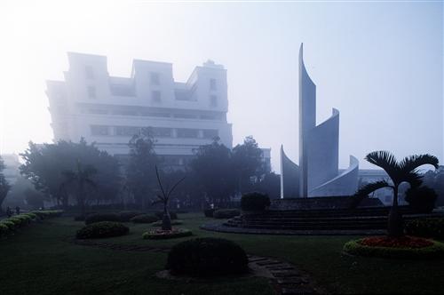 蛋捲廣場霧景
