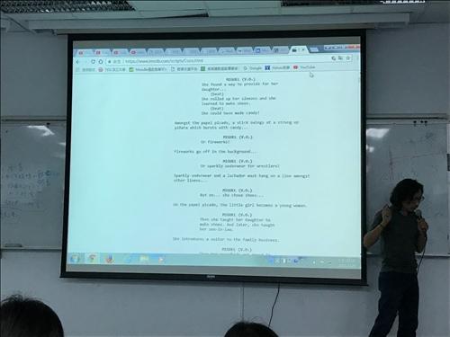 魏嘉宏老師闡釋比較英式與中式劇本的手法