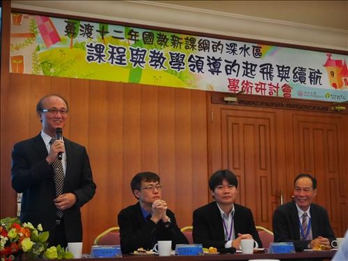 教育部常務次長林騰蛟,特地前來為第一線教育工作者勉勵。