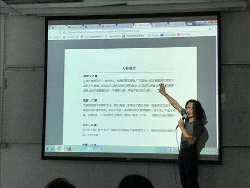 魏嘉宏老師說明劇本故事的敘事發展進程